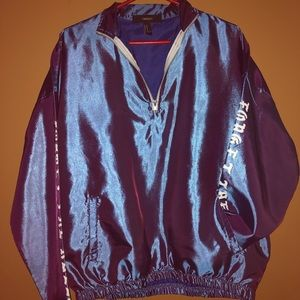 Purple iridescent windbreaker jacket